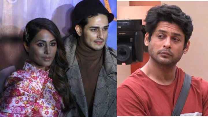 Bigg Boss 13 Runnter Up Of Bigg Boss 11 Hina Khan And Ex-Contestant Priyank Sharma Came To The House For Their Song Promotion